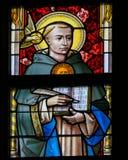 Λεκιασμένο γυαλί - Άγιος Thomas Aquinas Στοκ Φωτογραφία