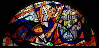 Λεκιασμένο γυαλί - εμφάνιση της Virgin Mary στη Fatima Στοκ φωτογραφίες με δικαίωμα ελεύθερης χρήσης