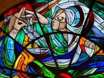 Λεκιασμένο γυαλί - εμφάνιση της Virgin Mary στη Fatima Στοκ Φωτογραφία