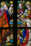 Λεκιασμένο γυαλί - ιερή κοινωνία Στοκ φωτογραφία με δικαίωμα ελεύθερης χρήσης