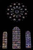 Λεκιασμένο γυαλί σε έναν καθεδρικό ναό Στοκ Εικόνες