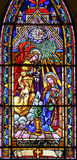 Λεκιασμένο γυαλί σε Bariloche - Annunciation Στοκ φωτογραφία με δικαίωμα ελεύθερης χρήσης