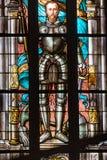 Λεκιασμένο γυαλί στην εκκλησία, Σουηδία, Ευρώπη Στοκ Φωτογραφία
