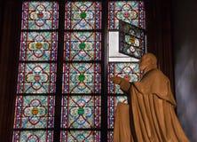 Λεκιασμένο γυαλί στον καθεδρικό ναό Notre Dame Στοκ φωτογραφίες με δικαίωμα ελεύθερης χρήσης
