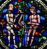 Λεκιασμένο γυαλί - Adam και παραμονή στοκ φωτογραφίες με δικαίωμα ελεύθερης χρήσης