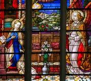 Λεκιασμένο γυαλί - Annunciation Στοκ Φωτογραφία