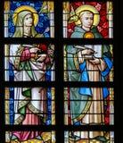 Λεκιασμένο γυαλί - Thomas Aquinas και Άγιος Τερέζα Στοκ εικόνα με δικαίωμα ελεύθερης χρήσης
