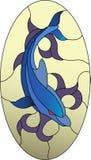 Λεκιασμένο δελφίνι σχέδιο γυαλιού απεικόνιση αποθεμάτων