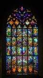 Λεκιασμένο εκκλησία γυαλί Josselin, όμορφο χωριό της γαλλικής Βρετάνης στοκ εικόνες με δικαίωμα ελεύθερης χρήσης