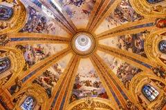 Λεκιασμένο θόλος γυαλί Σαν Φρανσίσκο EL Grande Μαδρίτη Ισπανία Στοκ φωτογραφία με δικαίωμα ελεύθερης χρήσης