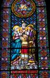 Λεκιασμένο μοναστήρι Μοντσερράτ γάμου της Mary Joseph γυαλιού Στοκ φωτογραφία με δικαίωμα ελεύθερης χρήσης