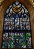 Λεκιασμένο παράθυρο γυαλιού του Robert εγκαύματα μέσα στον καθεδρικό ναό του ST Giles, EDI στοκ εικόνες με δικαίωμα ελεύθερης χρήσης