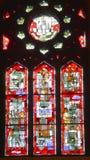 Λεκιασμένο παράθυρο γυαλιού Αγίου Joseph ρητορική Στοκ φωτογραφία με δικαίωμα ελεύθερης χρήσης