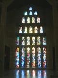 Λεκιασμένο παράθυρο γυαλιού της βασιλικής Annunciation στη Ναζαρέτ, Ισραήλ Στοκ εικόνες με δικαίωμα ελεύθερης χρήσης