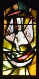 Λεκιασμένο παράθυρο γυαλιού της εκκλησίας Annunciation Στοκ φωτογραφία με δικαίωμα ελεύθερης χρήσης