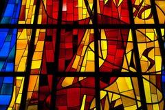 Λεκιασμένο παράθυρο γυαλιού Στοκ φωτογραφίες με δικαίωμα ελεύθερης χρήσης