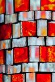 Λεκιασμένο πορτοκάλι γυαλί Στοκ εικόνα με δικαίωμα ελεύθερης χρήσης