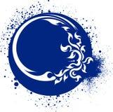 Λεκιασμένο υπόβαθρο στο μπλε γάμμα Στοκ φωτογραφία με δικαίωμα ελεύθερης χρήσης