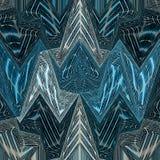 Λεκιασμένο υπόβαθρο τριγώνων γυαλιού αφηρημένο στο μπλε και το κιρκίρι Στοκ Εικόνες