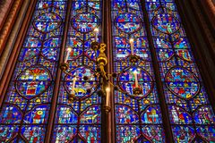Λεκιασμένο Chapelle γυαλί Sainte στοκ εικόνα με δικαίωμα ελεύθερης χρήσης