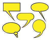 Λεκτικά μπαλόνια Στοκ εικόνα με δικαίωμα ελεύθερης χρήσης