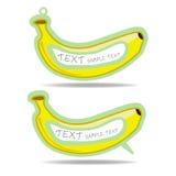 Λεκτικές φυσαλίδα και τιμή μπανανών   Στοκ εικόνα με δικαίωμα ελεύθερης χρήσης