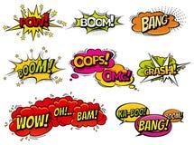 Λεκτικές φυσαλίδες επίδρασης κόμικς υγιείς, εκφράσεις Λεκτική φράση εικονιδίων φυσαλίδων συλλογής διανυσματική, αποκλειστική πηγή Στοκ Φωτογραφία