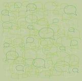 Λεκτικές φυσαλίδες υποβάθρου Στοκ φωτογραφία με δικαίωμα ελεύθερης χρήσης