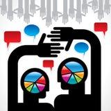 Λεκτική φυσαλίδα με από κοινού Στοκ εικόνα με δικαίωμα ελεύθερης χρήσης