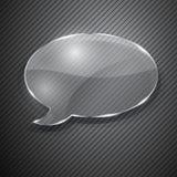Λεκτική φυσαλίδα από το γυαλί Στοκ εικόνα με δικαίωμα ελεύθερης χρήσης