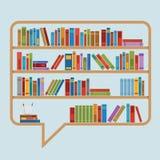Λεκτική φυσαλίδα βιβλίων Στοκ Εικόνες
