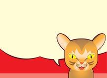 Λεκτική φυσαλίδα και γάτα Abbyssinian, διανυσματικά κινούμενα σχέδια Στοκ Εικόνες
