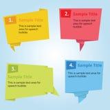 Λεκτική φυσαλίδα Infographic Στοκ φωτογραφίες με δικαίωμα ελεύθερης χρήσης