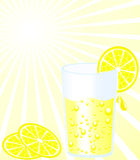 λεμονάδα γυαλιού διανυσματική απεικόνιση