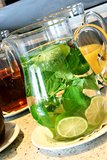 λεμονάδα γυαλιού στοκ εικόνες