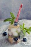 Λεμονάδα με το μύρτιλλο και τη μέντα Στοκ φωτογραφία με δικαίωμα ελεύθερης χρήσης