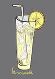 Λεμονάδα, φέτα λεμονιών, μη αλκοολούχο ποτό απεικόνιση αποθεμάτων