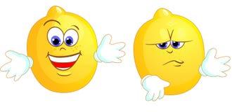 λεμόνια δύο Διανυσματική απεικόνιση