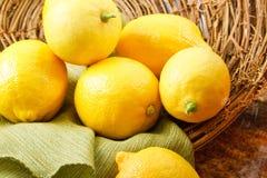 λεμόνια κίτρινα Στοκ Εικόνα