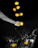 λεμόνια λεμονάδας που κά& στοκ εικόνες