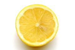 Λεμόνια στην άσπρη ζώνη Στοκ Φωτογραφία