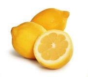 λεμόνια τρία Στοκ εικόνα με δικαίωμα ελεύθερης χρήσης