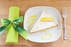 λεμόνι κέικ Στοκ Φωτογραφία