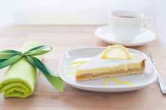λεμόνι κέικ Στοκ Εικόνες