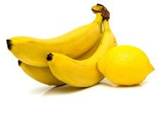 Λεμόνι και μπανάνα 2 Στοκ εικόνες με δικαίωμα ελεύθερης χρήσης