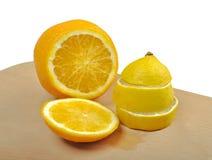 Λεμόνι και πορτοκάλι Στοκ Εικόνες