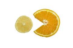 Λεμόνι και πορτοκάλι Στοκ εικόνα με δικαίωμα ελεύθερης χρήσης
