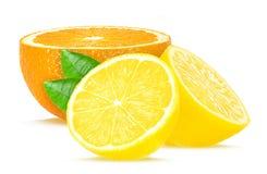 Λεμόνι και πορτοκάλι Στοκ φωτογραφίες με δικαίωμα ελεύθερης χρήσης
