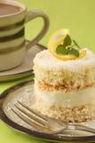λεμόνι καφέ καρύδων κέικ Στοκ εικόνα με δικαίωμα ελεύθερης χρήσης