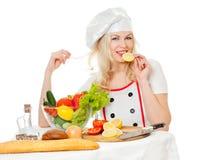 λεμόνι κοριτσιών μαγείρων στοκ φωτογραφία με δικαίωμα ελεύθερης χρήσης